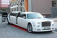 Прокат Лимузина Rolls-Royce Phantom (реплика 300С) с Ламбо Дверью Крыло Чайки, цвет белый.