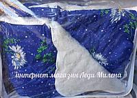 Теплое двухсторонее шерстяное одеяло двухспальное, фото 1