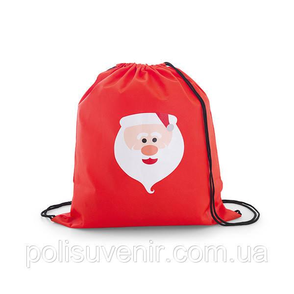 Сумка рюкзак-мішок новорічний