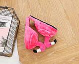 Плюшевые Тапочки Фламинго розовые (без задника), фото 5