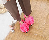 Плюшевые Тапочки Фламинго розовые (без задника), фото 6