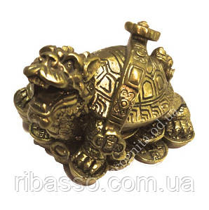 9260106 Драконья черепаха со скипетром ЖУИ на монетах