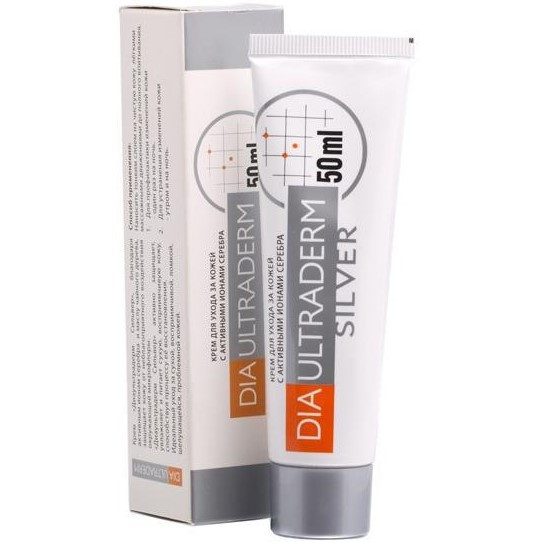 Diaultraderm Silver (Диаультрадерм), антибактериальный крем для ног
