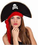 Шляпа Корсара, Пирата, Пиратки, велюр (черная), фото 3
