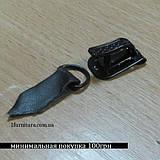 Шубные крючки (Китай) темно-коричневый, 30шт