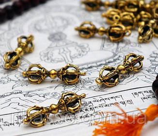 9210004 Кулон Ваджра четыре лепестка бронза