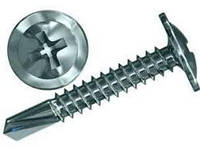 Шуруп с прессшайбой оцинкованный со сверлом 4.2х14 мм.
