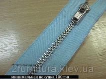 Молния джинсовая №4.5 голубая  2шт (никель) tit 3422 (ГОЛУБОЙ, 2 шт, 16 см)