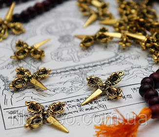 9210008 Кулон Пурбу + тройная Ваджра бронза