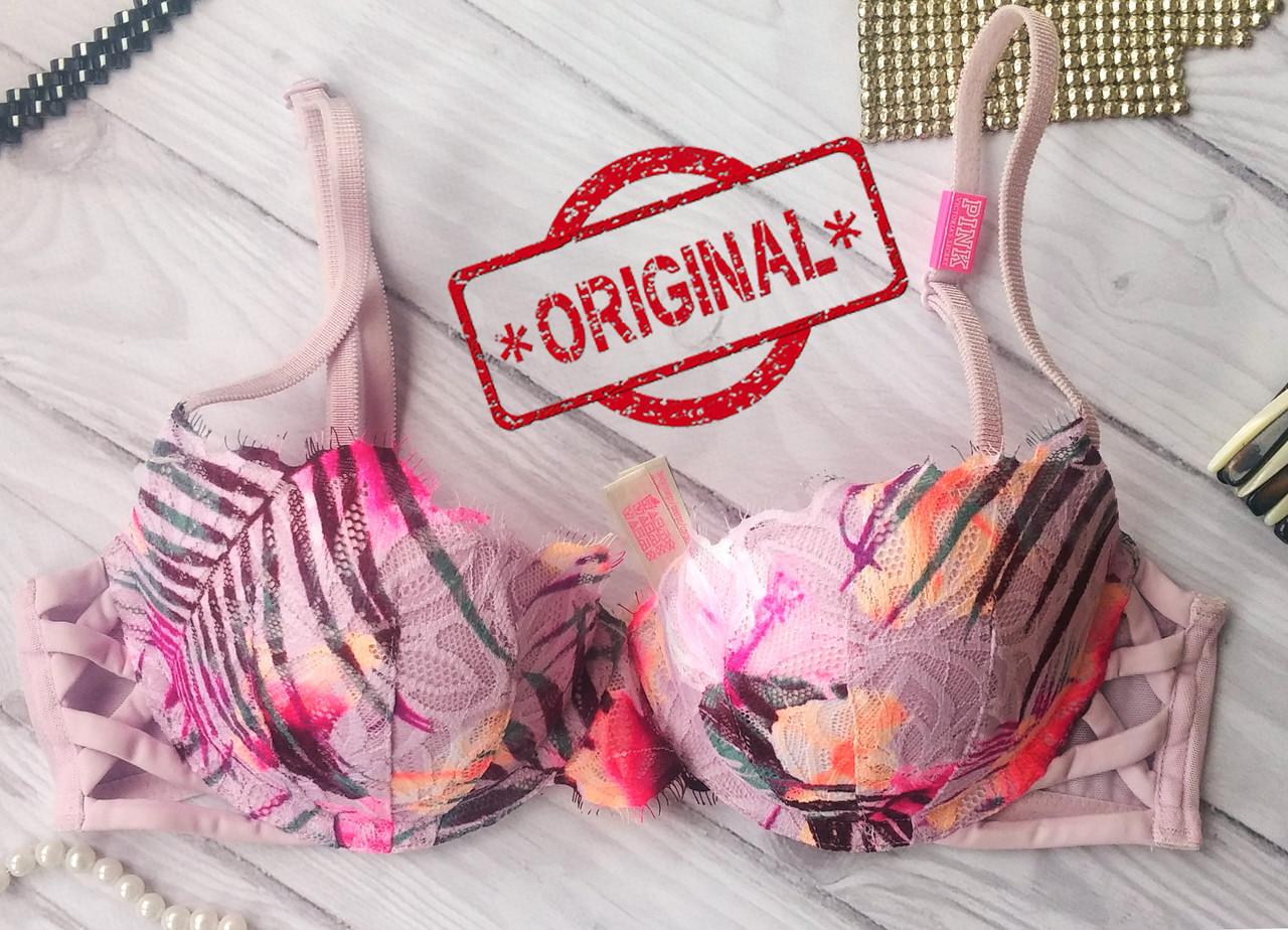 Бюстгальтер с пуш ап Pink Victoria's Secret Оригинал 34B 75B виктория сикрет
