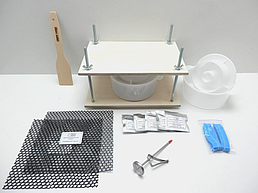 Набор с прессом для твердых сыров (металл.напр.) сэлектронным термометром