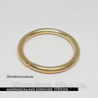 Кольца для сумок (27мм) золото, 10шт 4340