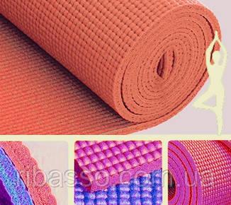 9290143 Коврик для Йоги 6мм. Оранжевый