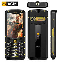 Кнопочный мобильный телефон AGM M2   2 сим,2,4 дюйма,1950 мА\ч.IP68