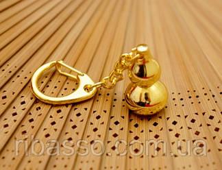9180025 Брелок в золотом цвете Улоу объёмная