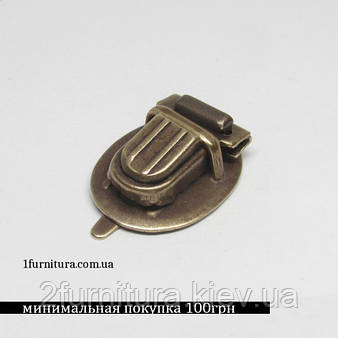 Замки для сумок антик, 4шт 4591