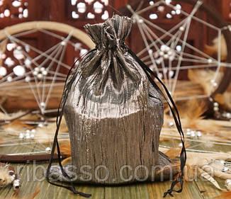 9040068 Мешочек из сатина жатый Серый