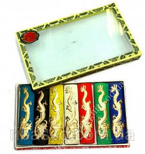 9040027 Туш для каліграфії набір 7 кольорів у коробці