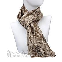 Тактический маскировочный сетчатый шарф (армейский) цифра пустыня, фото 2