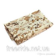 Тактический маскировочный сетчатый шарф (армейский) цифра пустыня, фото 3