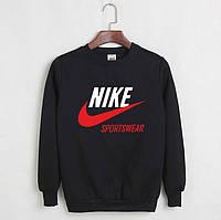 Теплый свитшот мужской с Nike Sportswear Найк Кофта черная (РЕПЛИКА)