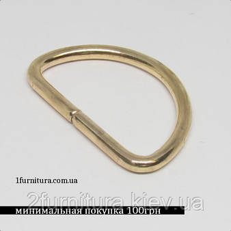 Полукольца для сумок (30мм) золото, 20шт 4231