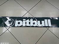 Наклейка на лобовое стекло pitbull