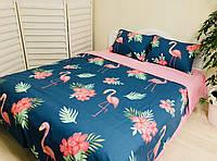 Комплект постельного белья «Фламинго» Двуспальный Евро
