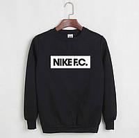 Зимовий світшот чоловічий з принтом Nike F. C. Найк Кофта чорна (РЕПЛІКА)