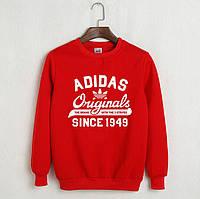 На флисе свитшот мужской с принтом Adidas Originals 1949 Адидас Кофта красная (РЕПЛИКА)
