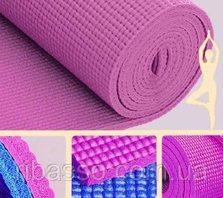 9290143 Коврик для Йоги 6мм. Светло розовый