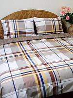 """Комплект постельного белья """"Шотландка"""" Двуспальный Евро"""