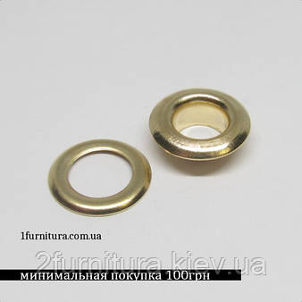 Люверсы (7мм, №5) золото, 200шт 5039