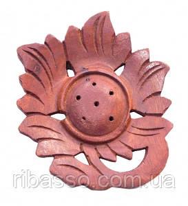 9150046 Подставка под аромапалочки деревянная Цветок