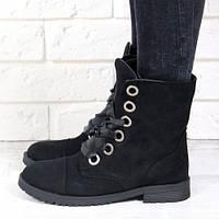 Ботильоны Черные Классические Ботинки На Толстой Рельефной Подошве Модные Кирпичная 7045
