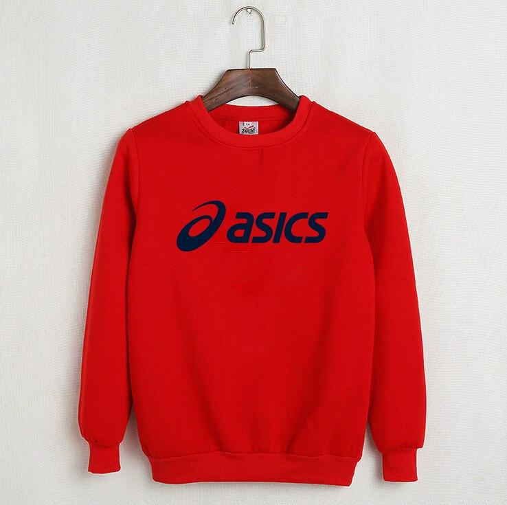 6001d2089f25 Утепленный свитшот мужской с принтом Asics Асикс Кофта красная (РЕПЛИКА)