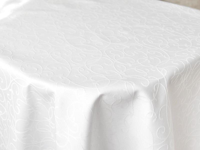 Ткань для Скатертей Вьюнок-150 (Рис.8) Белая с пропиткой Тефлон 150см