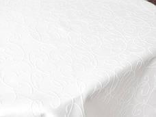 Тканина для Скатертин Вьюнок-150 (Рис.8) Біла з просоченням Тефлон 150см, фото 2