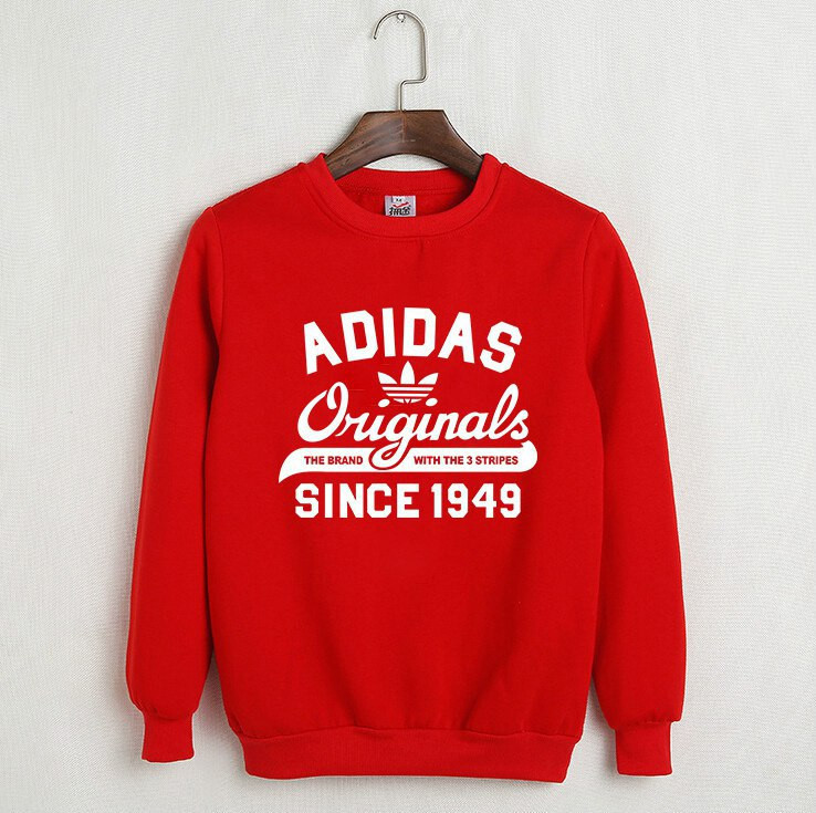 online store 86c07 eb369 На флисе свитшот мужской с принтом Adidas Originals 1949 Адидас Кофта  красная (РЕПЛИКА) -
