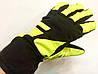 Перчатки горнолыжные женские   р.М (7) (черно/салатовые)