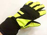 Перчатки горнолыжные женские   р.М (7) (черно/салатовые), фото 1
