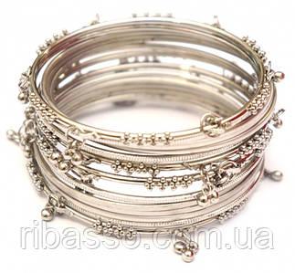 9080070 Комплект из 14 браслетов кольцо с подвесками белый