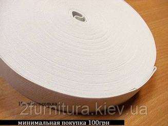 Резинка (Китай) белая 25м  (БЕЛЫЙ, 30 мм)