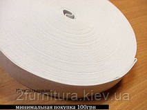 Резинка (Китай) белая 25м  (БЕЛЫЙ, 40 мм)