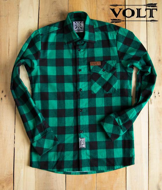 Рубашка VOLT green S