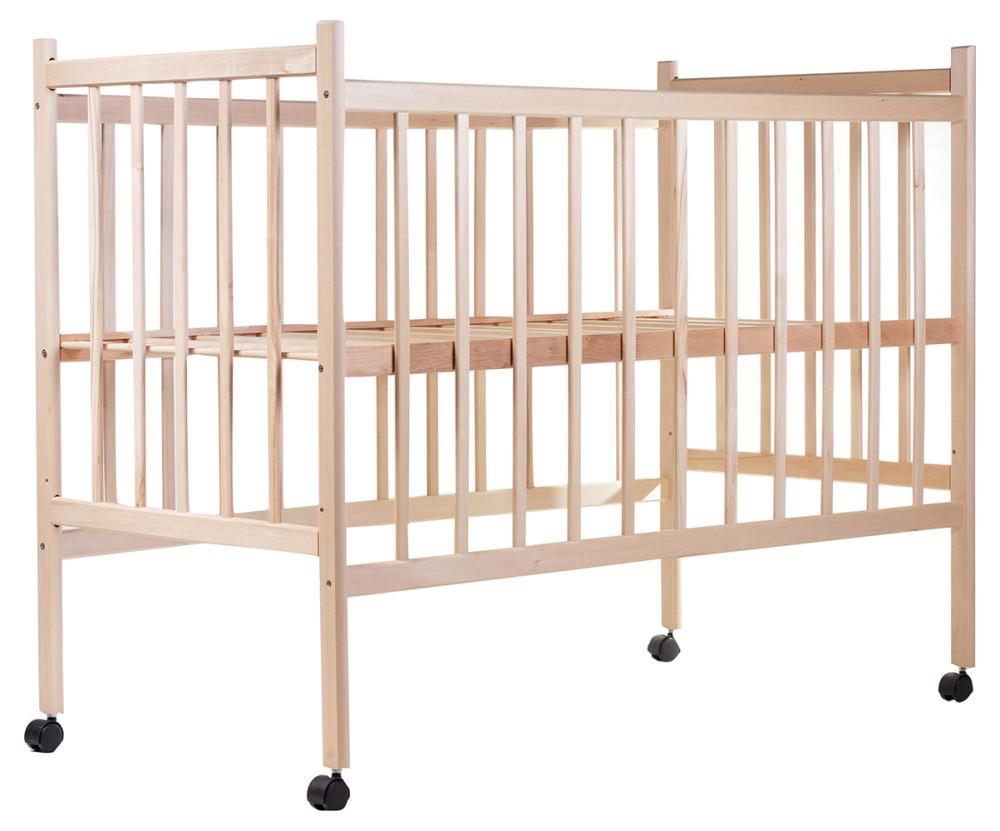 Кровать Наталка ОБЛ ровные быльца ольха без лака