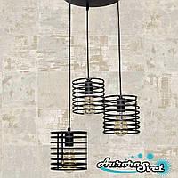 Люстра подвесная AuroraSvet loft 11500 чёрная.LED светильник люстра. Светодиодный светильник люстра.