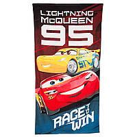 Махровое полотенце Тачки (Cars) для мальчиков (р. 70х140 см) ТМ Disney (Sun City) Красный ER4237-2