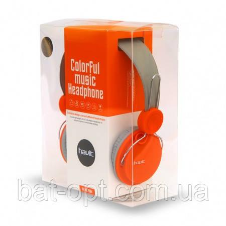Наушники с микрофоном Havit HV-H2198D серо-оранжевые