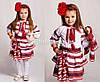 Детский вышитый костюм с геометрическим орнаментом Веснянка, фото 4